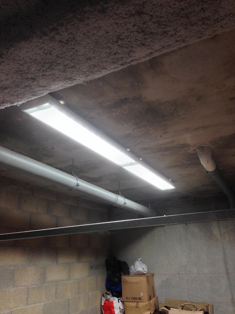 Création éclairage/prises garage  Tomec